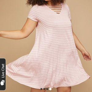 32d0c9814c3 Lane Bryant Dresses - Plus Size Lane Bryant T-shirt Swing Dress
